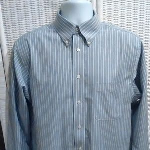 Stafford Oxford stripped long sleeve shirt